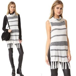 BB DAKOTA Tassel Fringe Stripe Mercer Sweater Vest